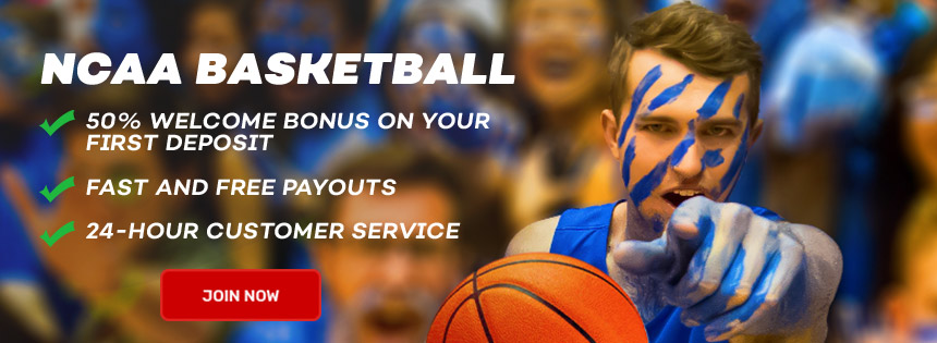 Join Bovada and receive a 50% Welcome Bonus for college basketball betting.