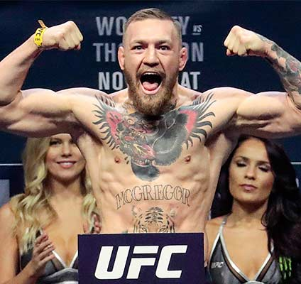 Bovada has UFC odds on Conor McGregor.
