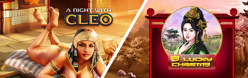 Battle of Popular Slot Games: A Night with Cleo vs 8 Lucky Charms