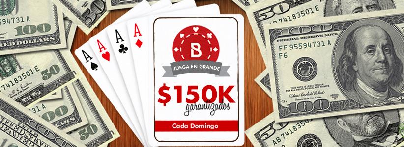 Torneo de Poker de $150K Garantizados