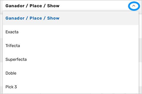 Horses - Win/Place/Show - ES