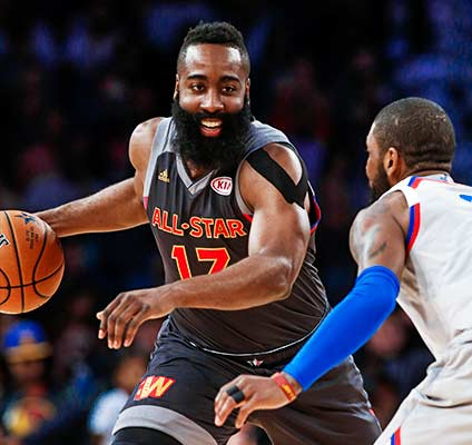 Bet on James Harden and other odds to win NBA MVP with Bovada.